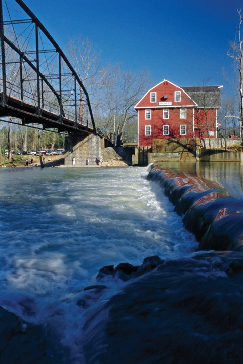 War Eagle Mill is one of the fascinating stops along the Arkansas art Trail. Photo courtesy Arkansas Department of Parks and Tourism.