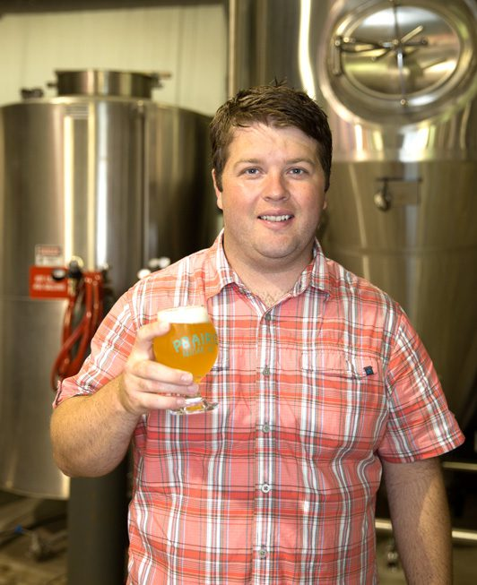 Chase Healey, co-owner and Brewmaster Of Prairie Artisan Ales. Photo by Brandon Scott.