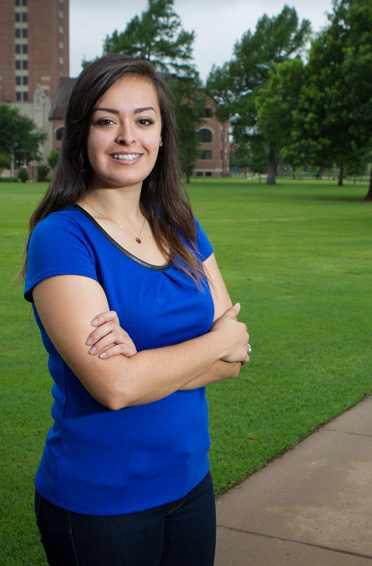 Elizabeth Ramirez, the first in her family to go to college, recently graduated from Oklahoma City University. Photo by Brent Fuchs.