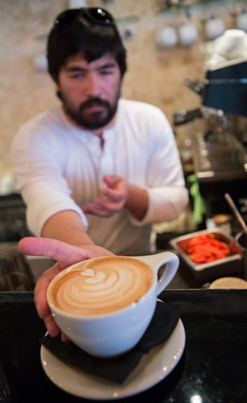 Specialty coffee drinks are a great addition to any breakfast at Café Kacao. photo by Brent Fuchs.
