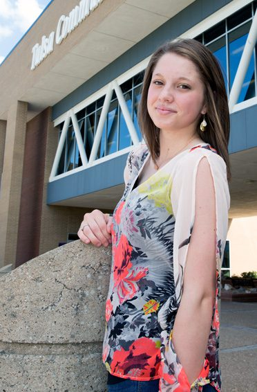 Rachael Surber, a first-generation college student, attends Tulsa Community College.Photo by Brandon Scott.