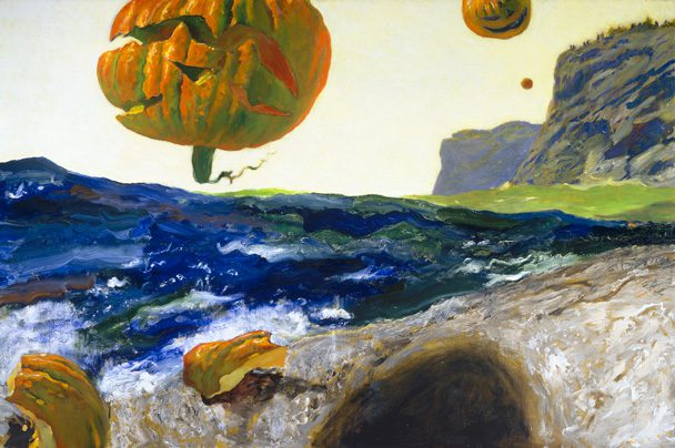 Jamie Wyeth: The Headlands of Monhegan Island, 2015, Oil on canvas, 40 by 60 inches.