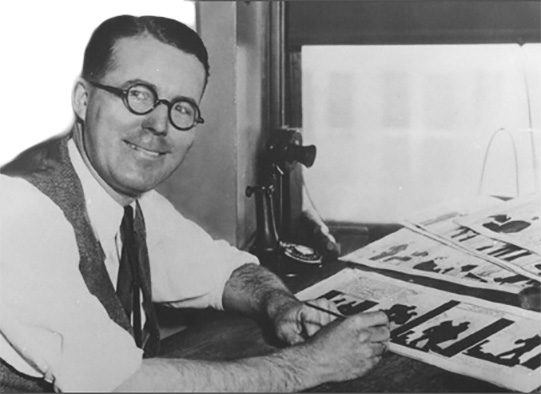 chester Gould, a pawnee native and the creator of the Famous Dick Tracy comic Strip, Discovered his fascination for the newspaper Comic strip when he was as young as 7 years old.