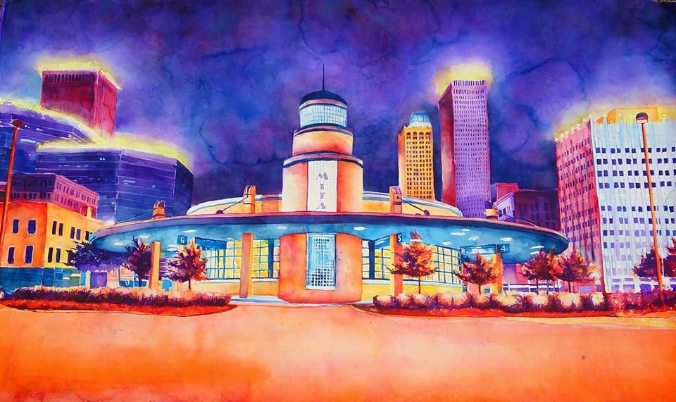 4th and Denver Bus Station by Tommy Ball. Photo courtesy Living Arts of Tulsa.