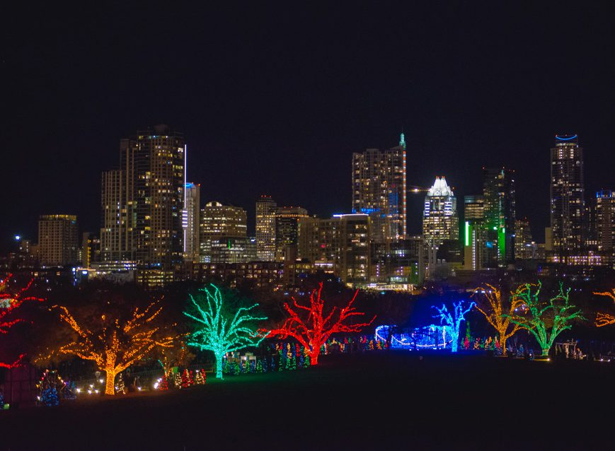 Austin Trail of Lights, Austin, Texas. Photo by Maggie Boyd Photography