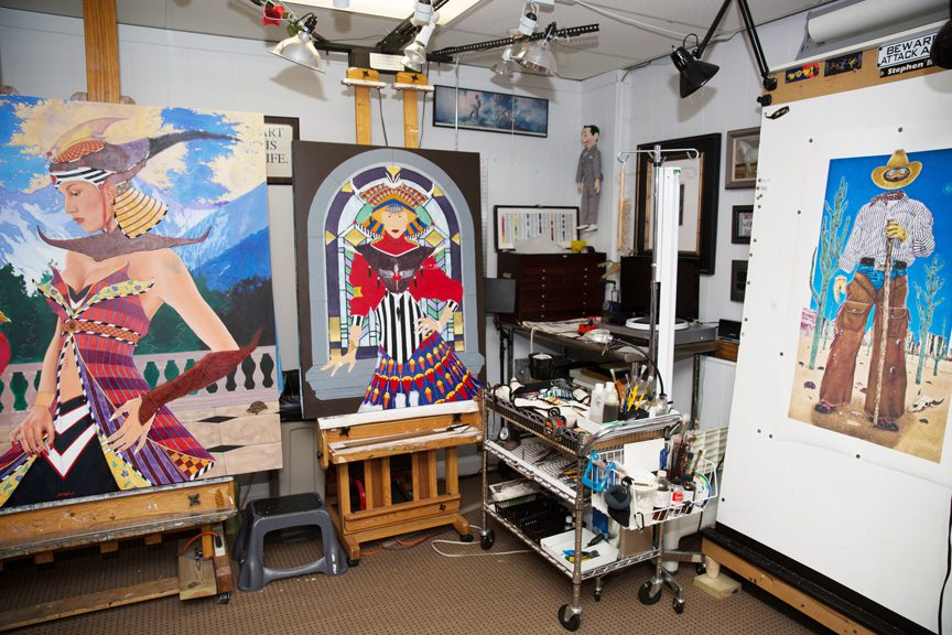 Selections from The artists' studio space. Photo by Brandon Scott.