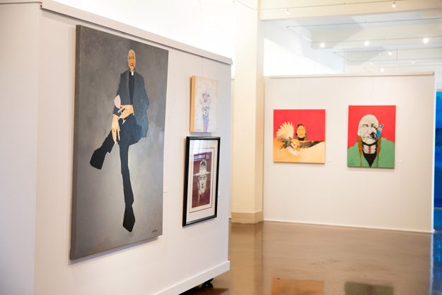 Seabourn's childhood dream of becoming a cartoonist, along with influences of abstract and realist art, can be seen in his current works. Photo by Brent Fuchs.