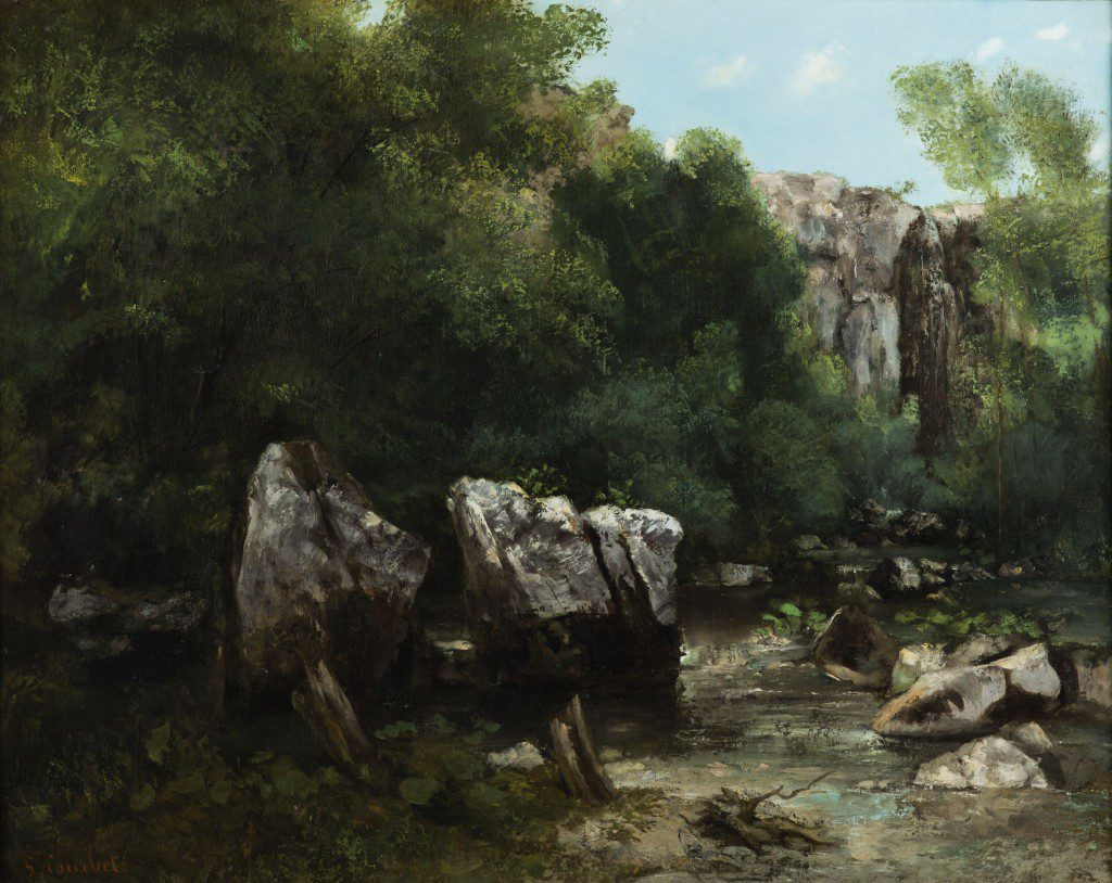 Gustave Courbet (French, 1819-1877) Gorge In A Forest (The Black Well), CA. 1865.