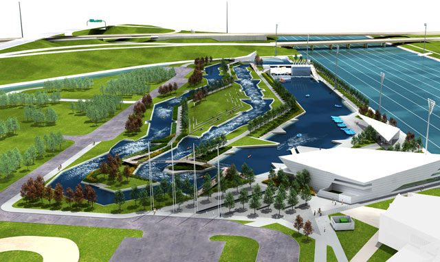 The $45.2 million Riversport Rapids Whitewater Rafting and Kayaking Center features two channels for visitors to enjoy. Photos courtesy Oklahoma City Boathouse Foundation.
