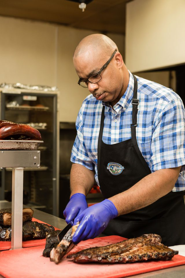 Elmer's BBQ in Tulsa is known for an old school style of barbecue. Photo by Chris Humphrey Photographer.
