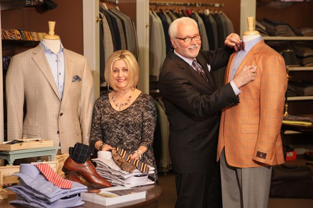 Travers and Laurie Mahan are the dynamic duo behind travers Mahan, a retail men's apparel business in Tulsa. Photo by Marc Rains