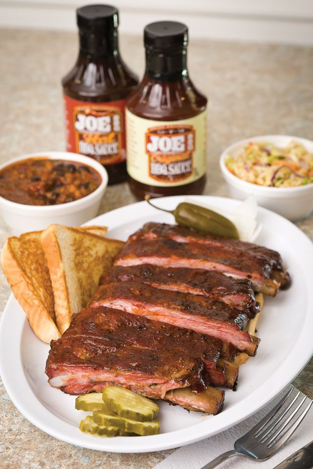 Ribs at Oklahoma Joe's bar-b-que. Photo by Chris Humphrey Photographer.