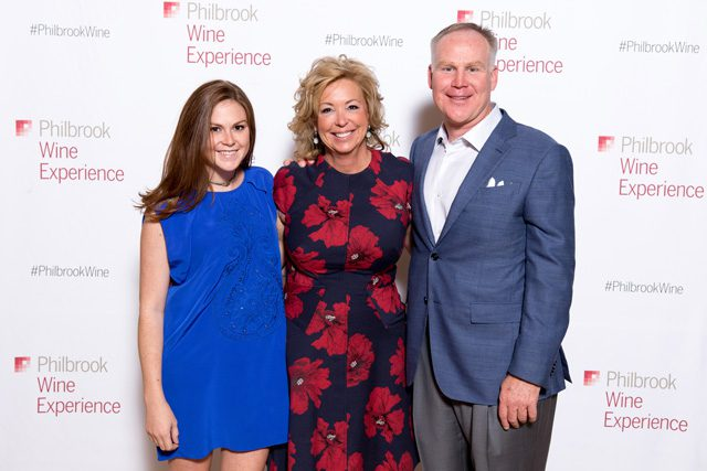 Claire, Shelly and Alan Armstrong, Philbrook Wine Experience.