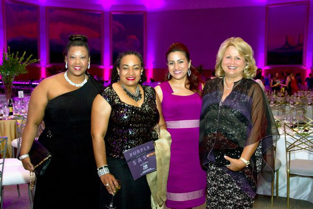 Kara Smith, Danne Johnson, Brenda Hernandez, Vicki Howard, Purple Sash Gala.