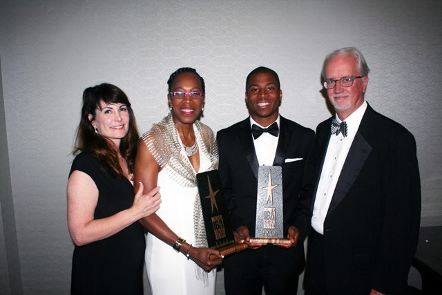 Dana Birkes, Madeline Manning Mims, Tyler Lockett, Michael Birkes, Rotary Club of Tulsa's Henry P. Iba Citizen Athlete Awards.