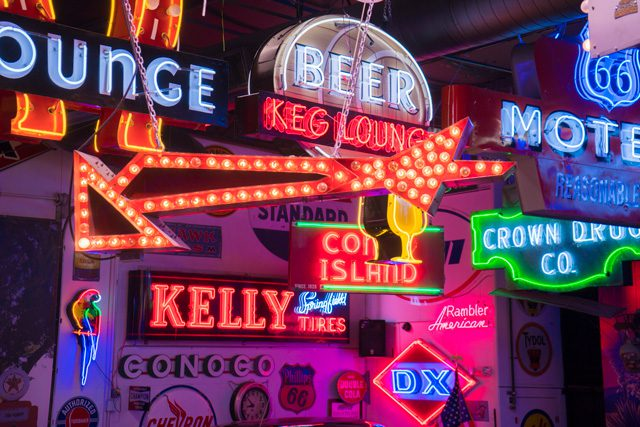Tulsan Bill Stokely has collected more than 80 vintage neon signs.