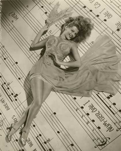 Rita Hayworth, from Columbia Pictures' Cover Girl, 1944. Gelatin silver print, 9 x 7 in. Gift of Dr. and Mrs. Richard L. Sandor. Photo courtesy Fred Jones Jr. Museum of Art.