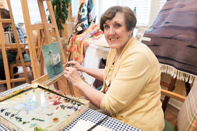 Charlotte Lough of tulsa did not reignite her love for painting until a couple of years before retirement. Now, she considers it her passion.