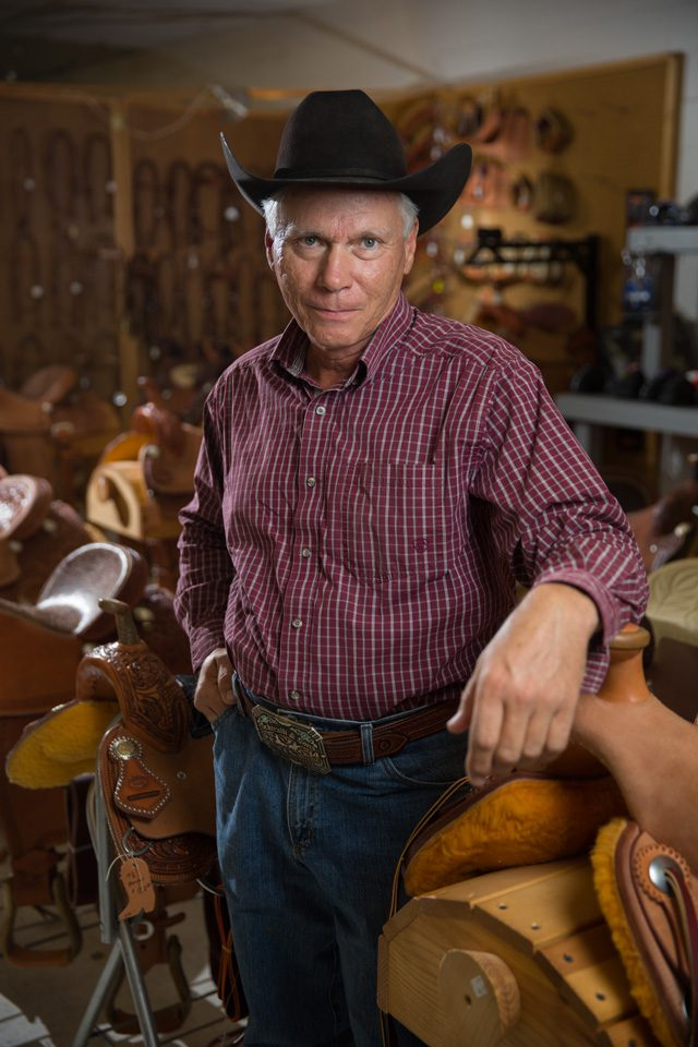Mike Marcellus has been in the business of saddlery for more than 30 Years. Photo by Brent Fuchs.