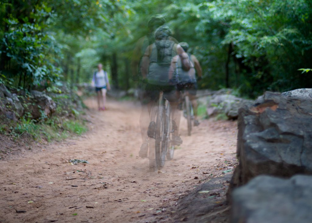 Tulsa's Turkey Mountain offers trails of various difficulty for hikers and cyclists.