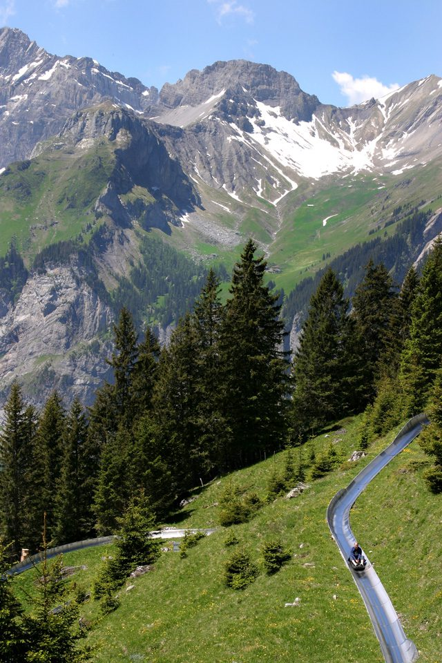 The nearby Swiss Alps feature many natural attractions.