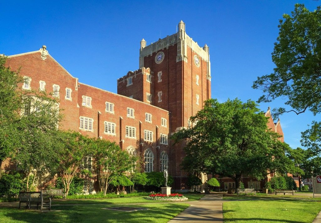 Memorial Union Tower rises above the campus at the University of Oklahoma. Photo courtesy the University Of Oklahoma