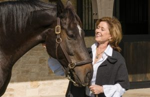Margaret Ferrell and Vinnie the horse.