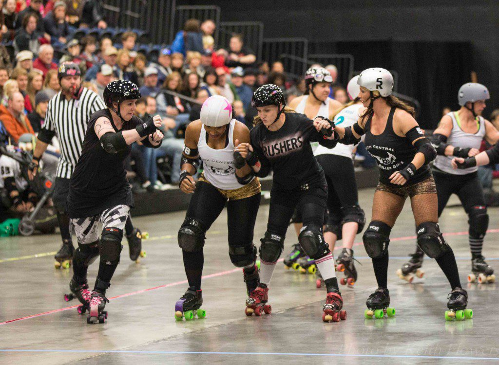Photo by Keith Flowers courtesy South Central Roller Girls.