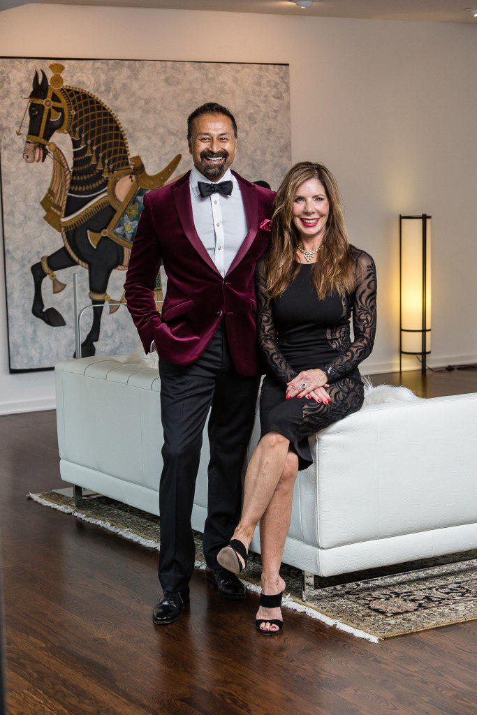 "Raj Basu and Rebekah Tennis, co-chairs of the Red Ribbon Gala, are ready for ""the most glamorous party in town."" Photo by Chris Humprhey Photographer"