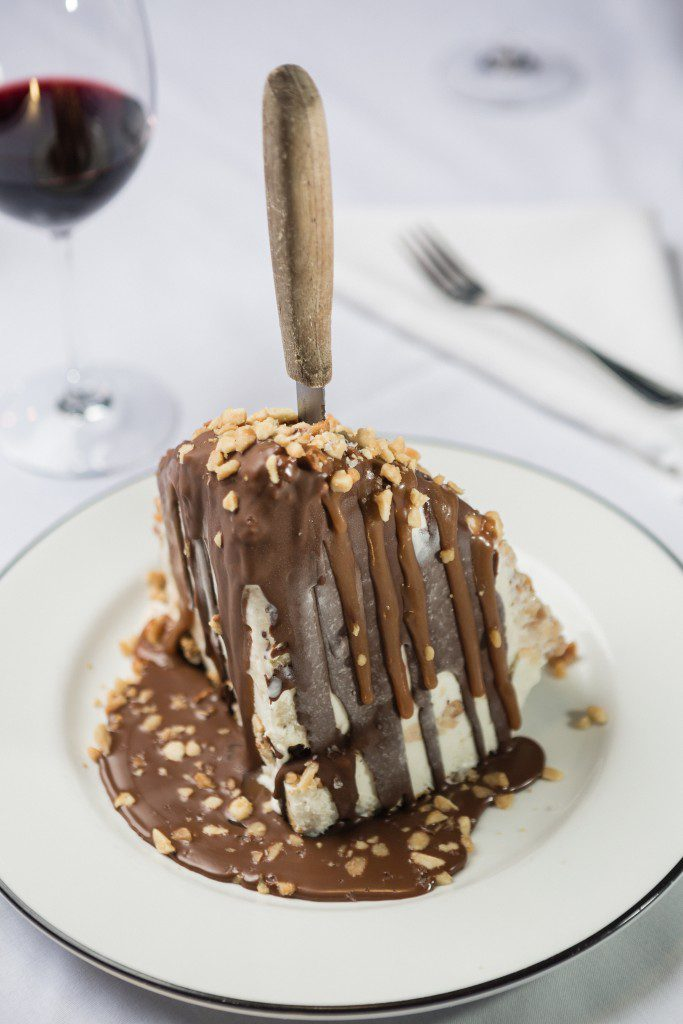 the delectable turtle ice cream pie is the perfect ending to a pristine meal. suffice it to say that you eat till you bust. Photo by Chris Humphrey Photographer