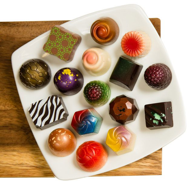 Glacier produces a wide variety of chocolates and truffles. Photo courtesy Glacier Confection.