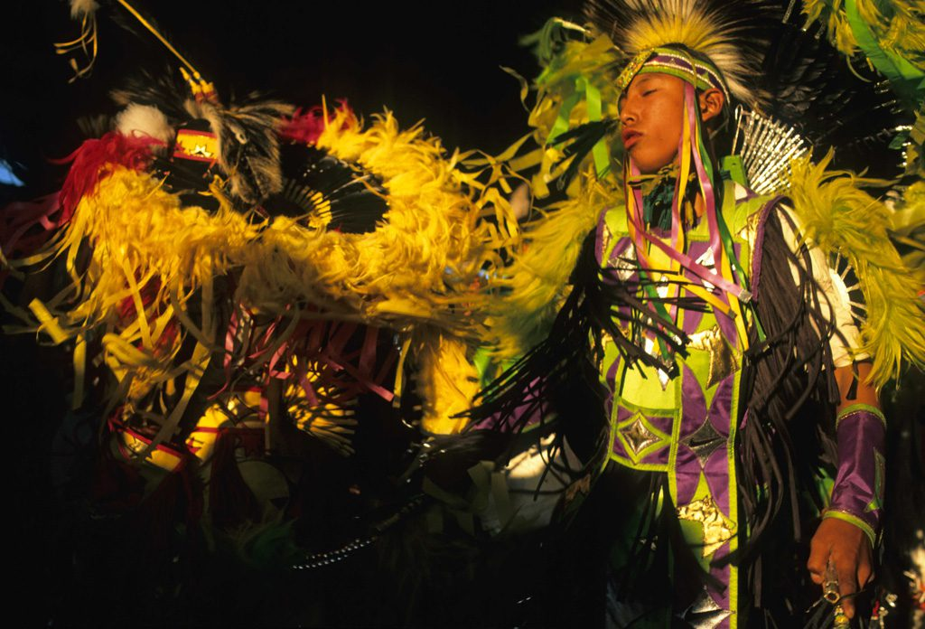 Two fancy dancers, ken blackbird. Buffalo Bill Center of the West, Cody, Wyoming, USA, courtesy Gilcrease.