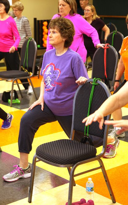 Paula Reno prefers working out in a group because it makes her feel better mentally and physically. Photo by Marc Rains.