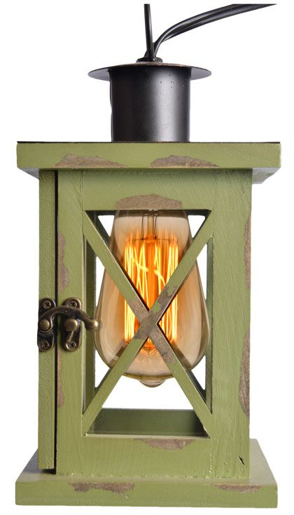 Anyone can turn a porch light on. if you want to spice up your outdoor lighting, try this vintage Edison bulb lantern. $34.99