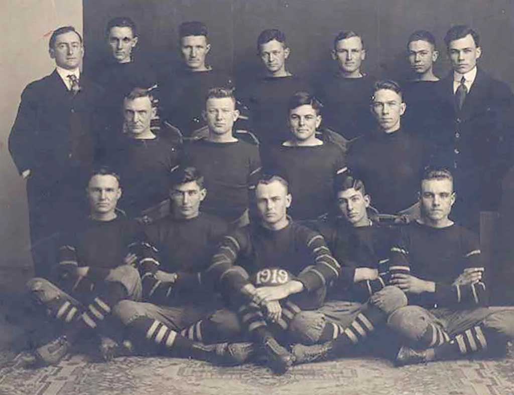 Kingfisher College was known for academics, but also fielded a football team. Photo courtesy The Chisholm Trail Museum Kingfisher College.