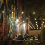 The well-lit patio at Empire Slice House is a hot spot in OKC.