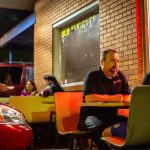 Diners can enjoy a small outdoor seating area at Tacos Don Francisco in Tulsa.