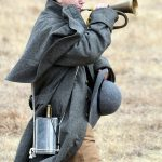 Buglers are an important part of Civil War reenactments in Oklahoma.